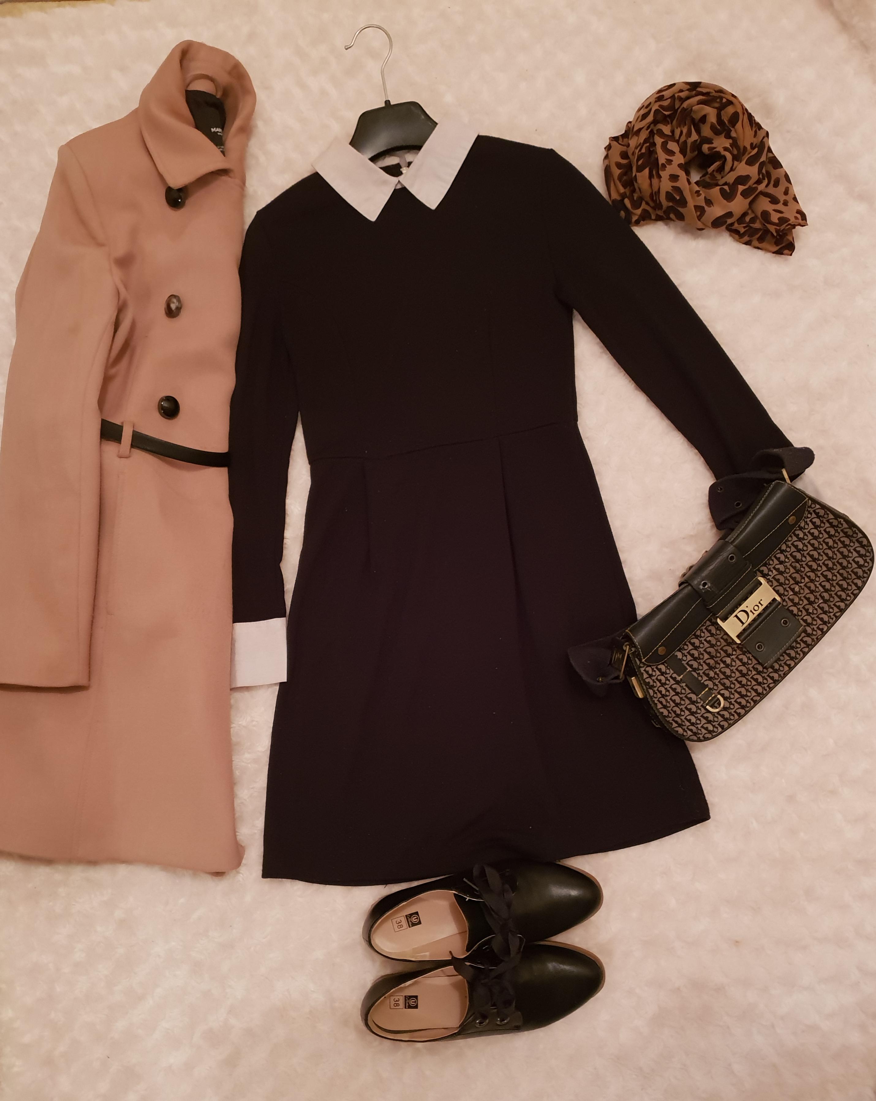 Le look d\u0027aujourd\u0027hui est très simple a copier, minimaliste et classe à la  fois. Le col claudine et les manches de cette robe lui donne un côté sage,